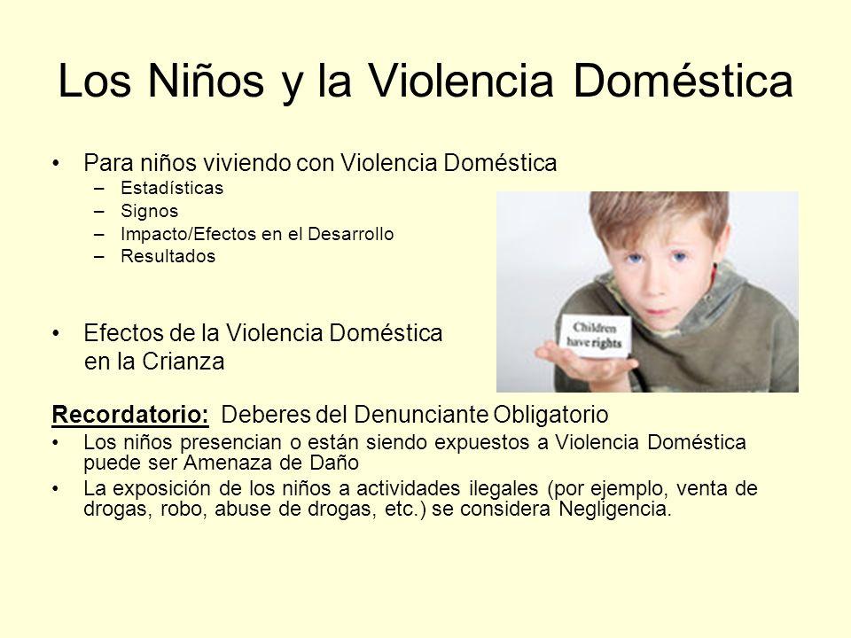 Los Niños y la Violencia Doméstica