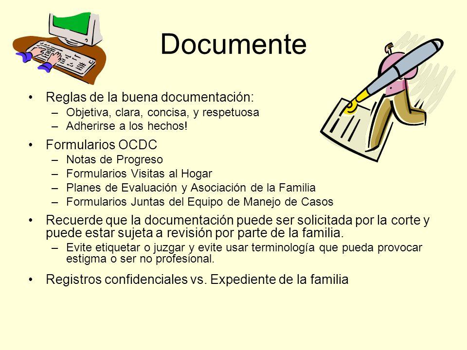 Documente Reglas de la buena documentación: Formularios OCDC