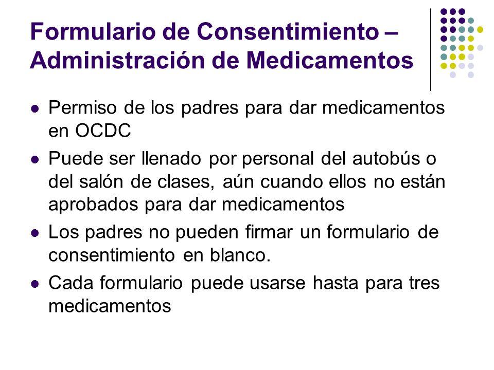 Formulario de Consentimiento – Administración de Medicamentos