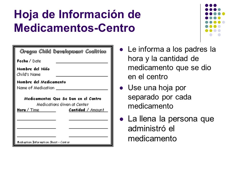Hoja de Información de Medicamentos-Centro