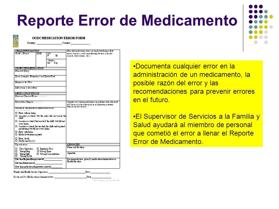 Reporte Error de Medicamento