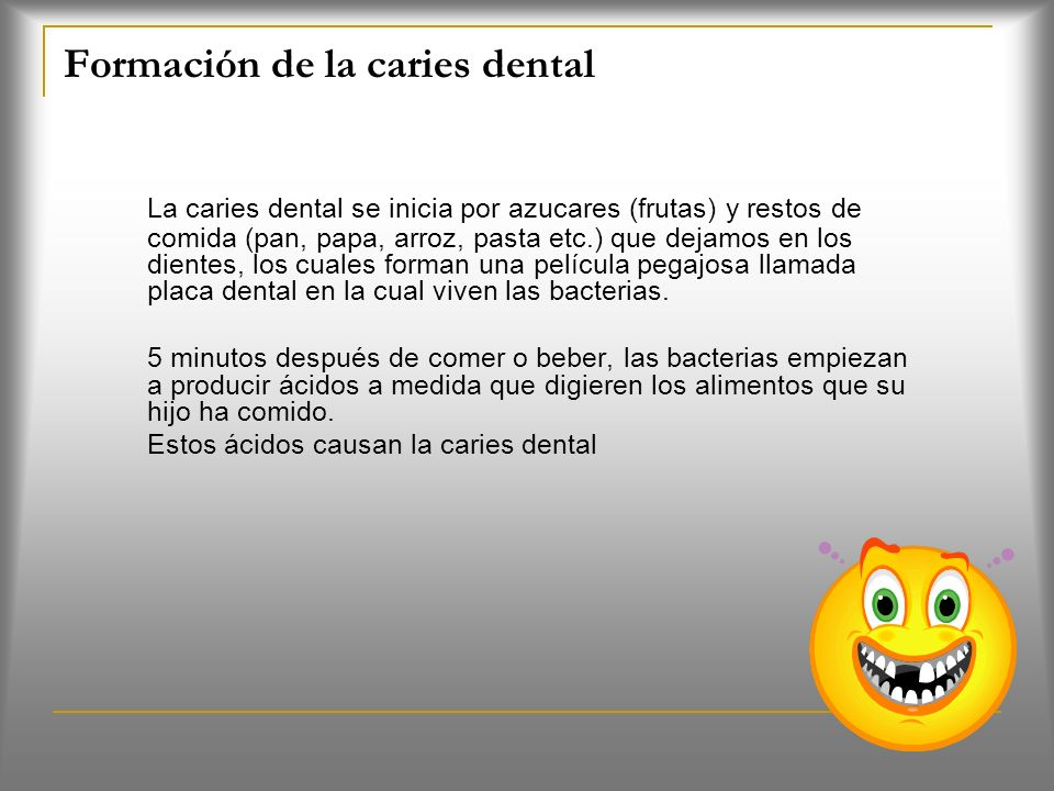 Formación de la caries dental