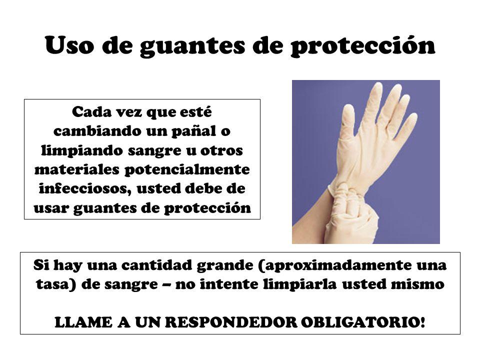 Uso de guantes de protección