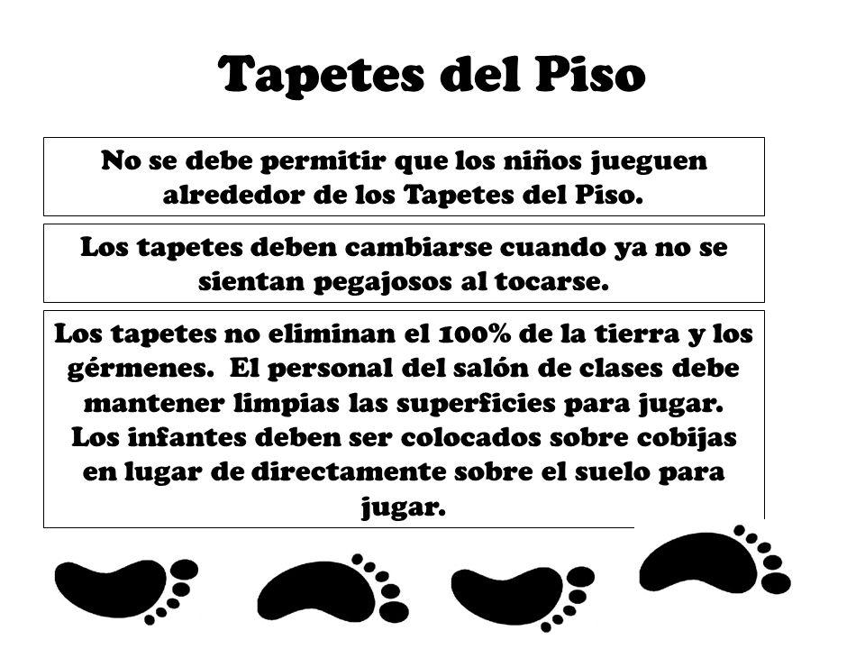 Tapetes del PisoNo se debe permitir que los niños jueguen alrededor de los Tapetes del Piso.