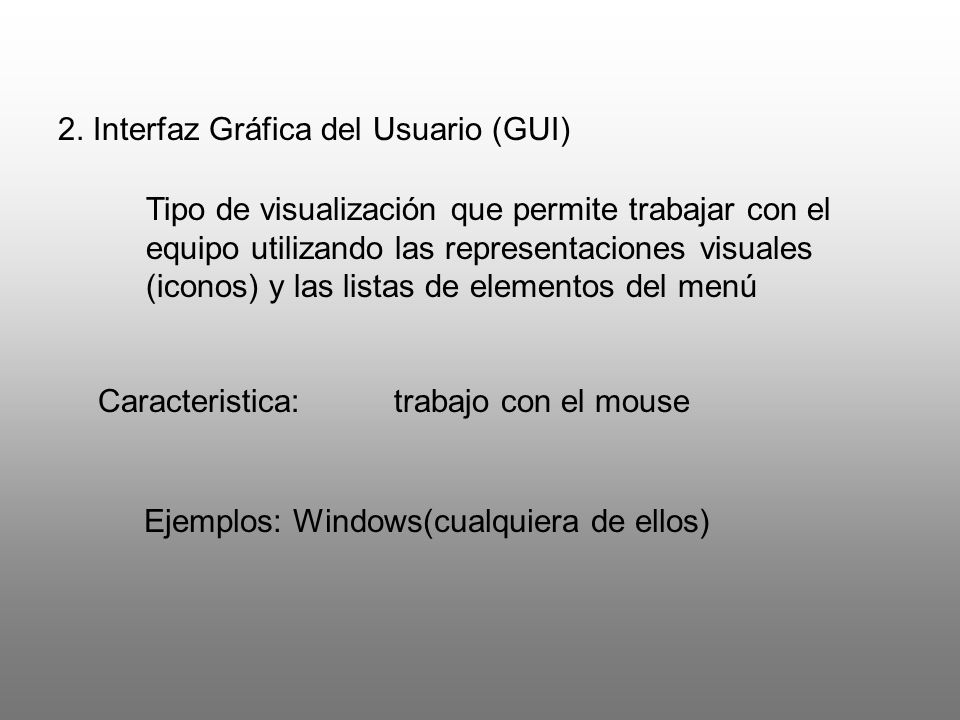 2. Interfaz Gráfica del Usuario (GUI)