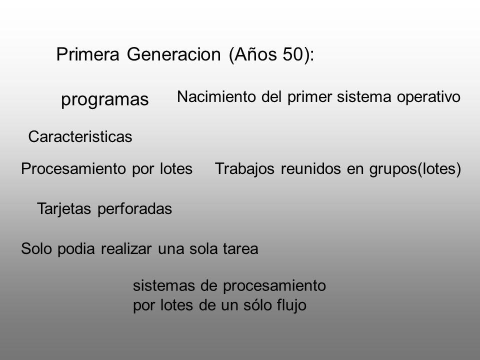 Primera Generacion (Años 50):