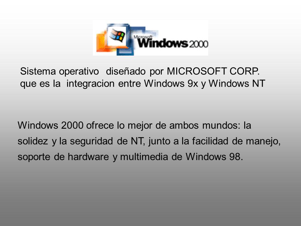Sistema operativo diseñado por MICROSOFT CORP