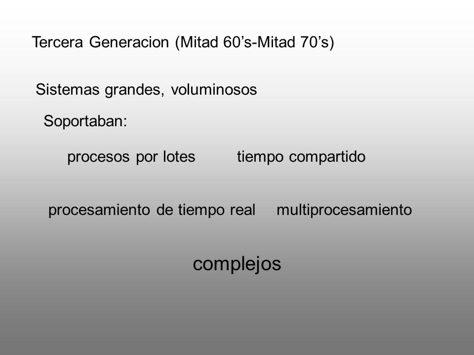 complejos Tercera Generacion (Mitad 60's-Mitad 70's)