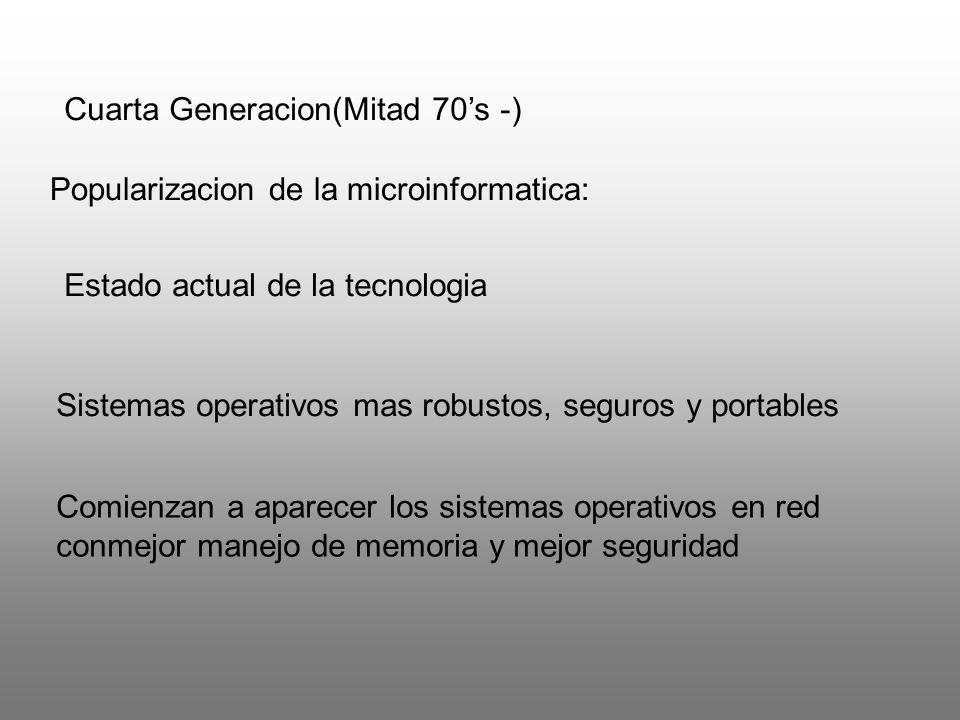 Cuarta Generacion(Mitad 70's -)