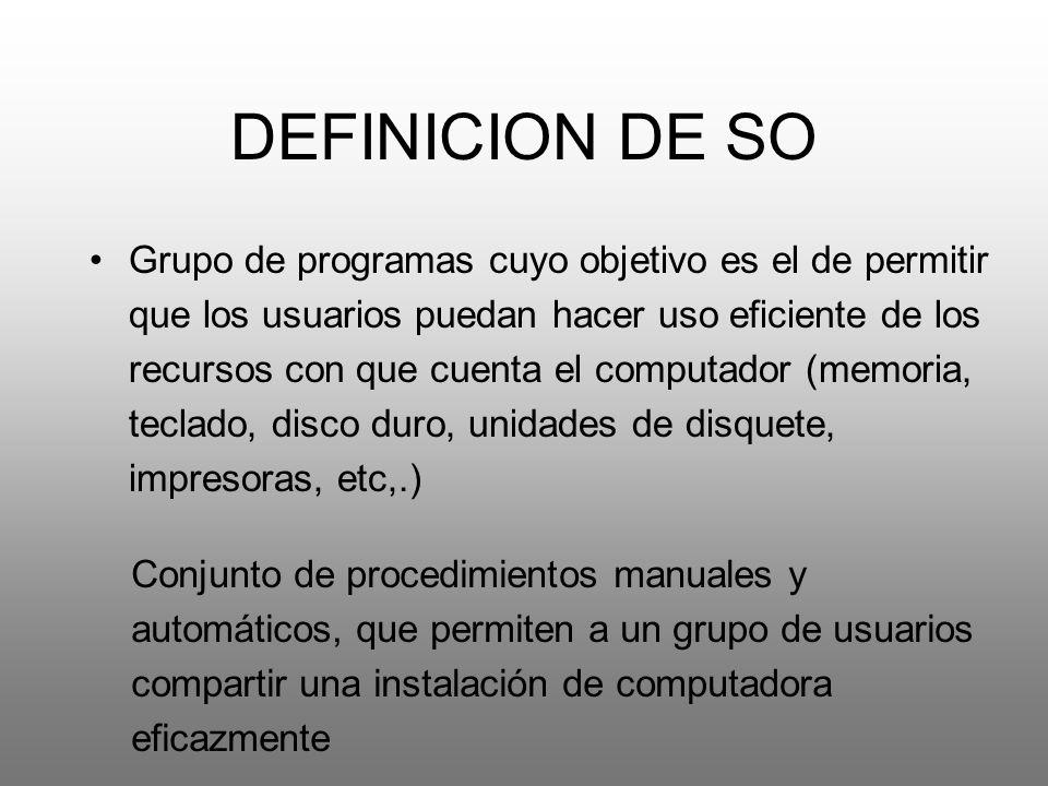DEFINICION DE SO