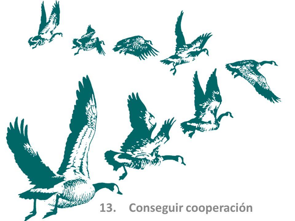 13. Conseguir cooperación