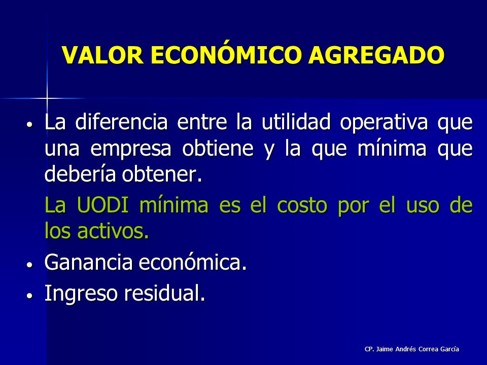 VALOR ECONÓMICO AGREGADO