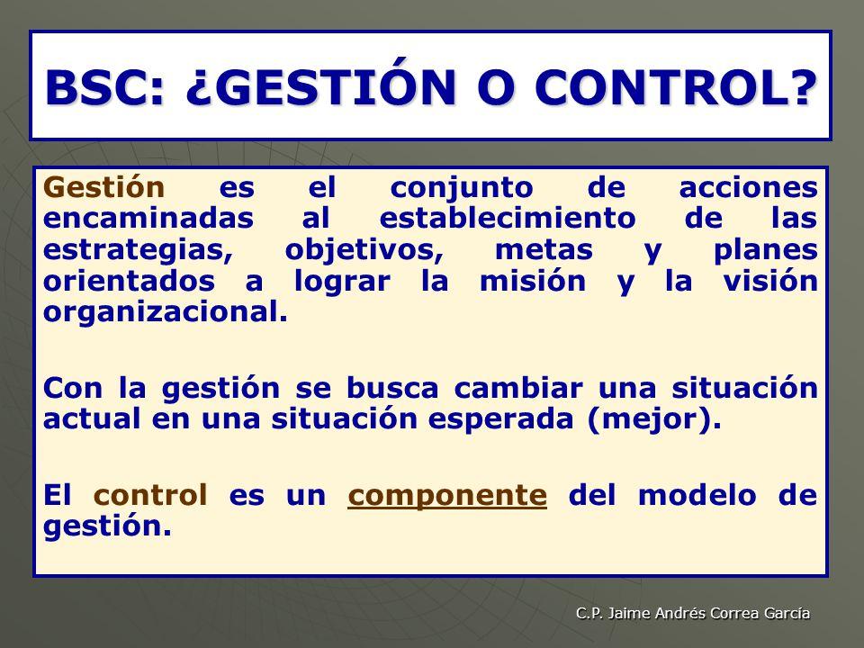 BSC: ¿GESTIÓN O CONTROL