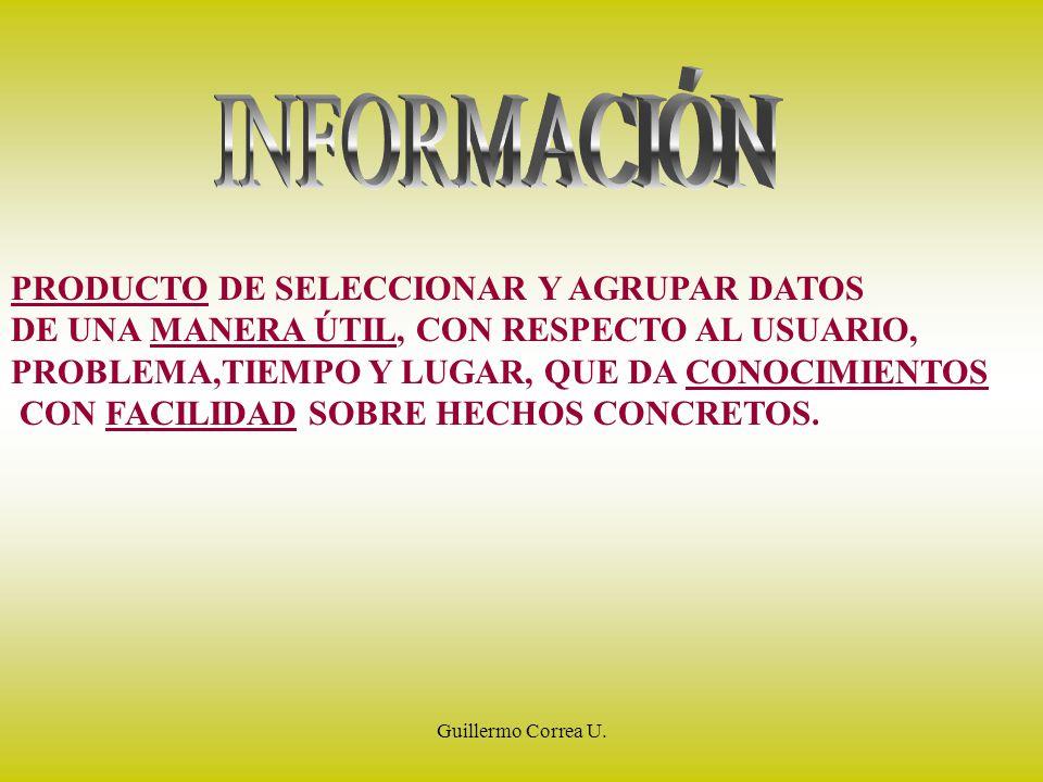 INFORMACIÓN PRODUCTO DE SELECCIONAR Y AGRUPAR DATOS