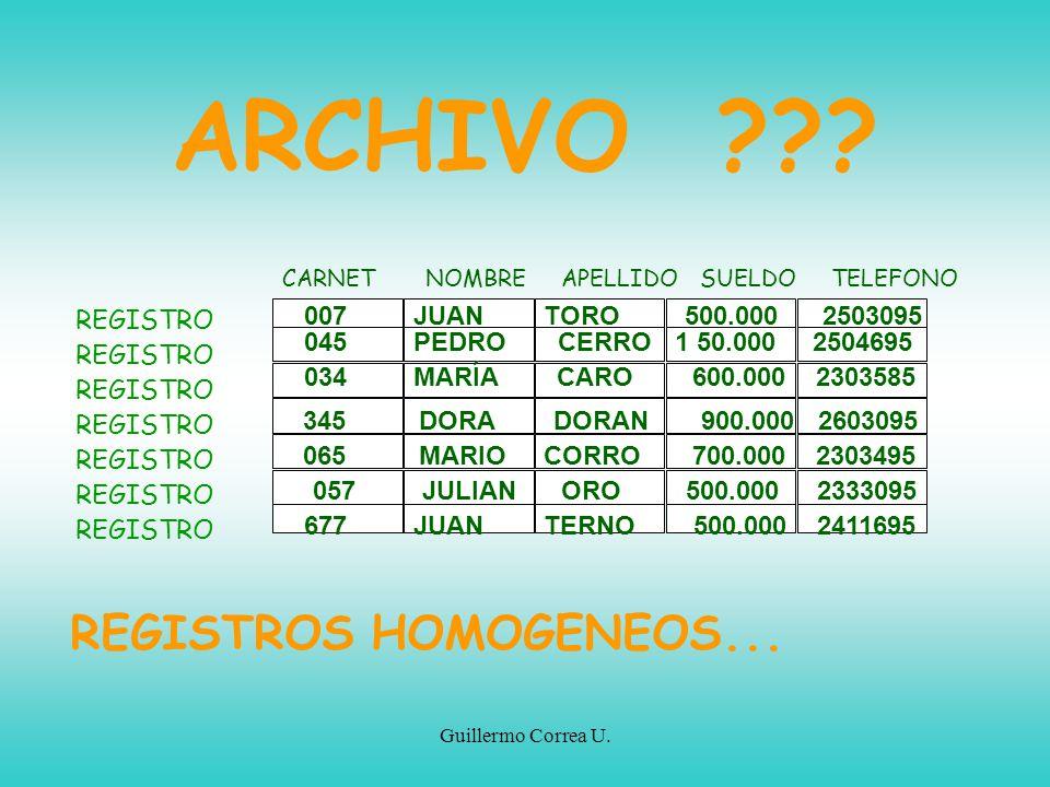 ARCHIVO REGISTROS HOMOGENEOS... 007 JUAN TORO 500.000 2503095