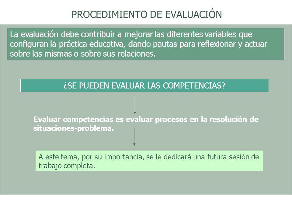 PROCEDIMIENTO DE EVALUACIÓN