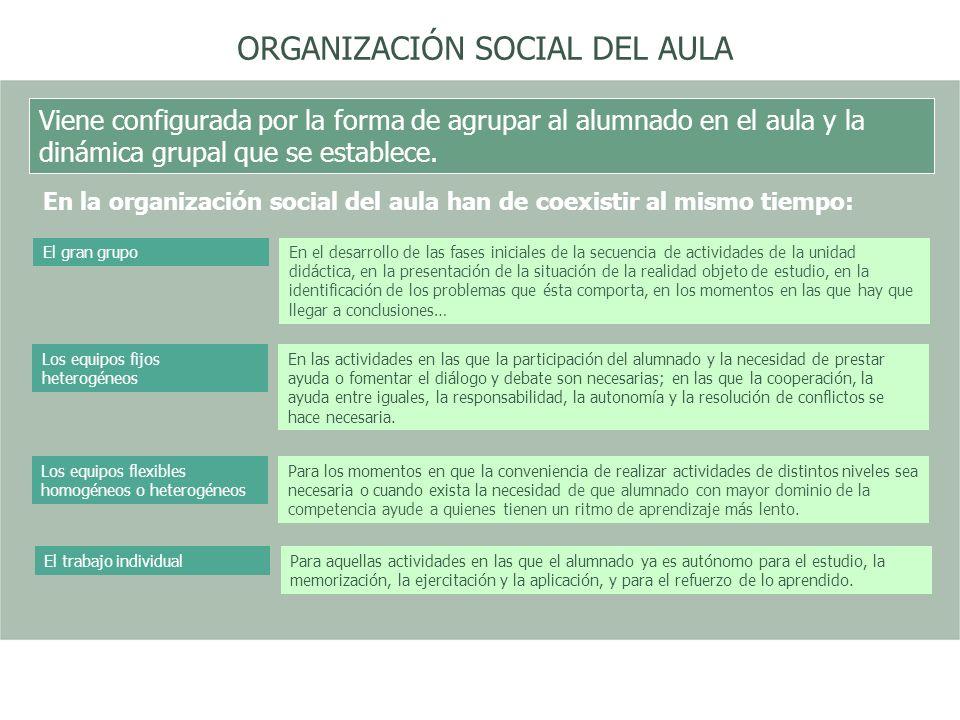 ORGANIZACIÓN SOCIAL DEL AULA