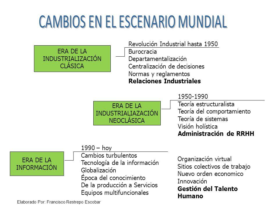 CAMBIOS EN EL ESCENARIO MUNDIAL