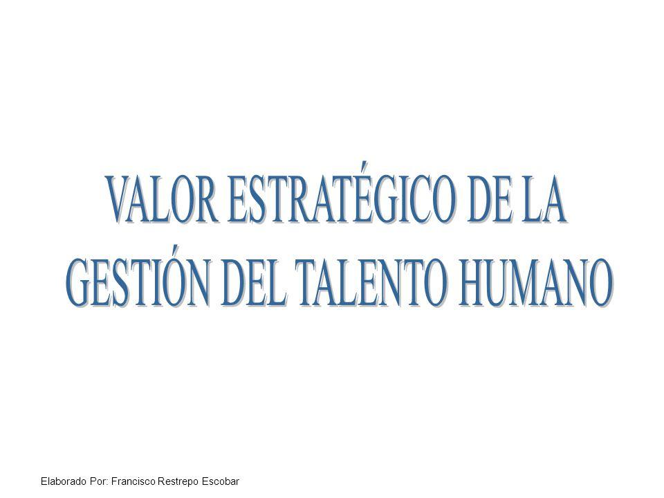 VALOR ESTRATÉGICO DE LA GESTIÓN DEL TALENTO HUMANO