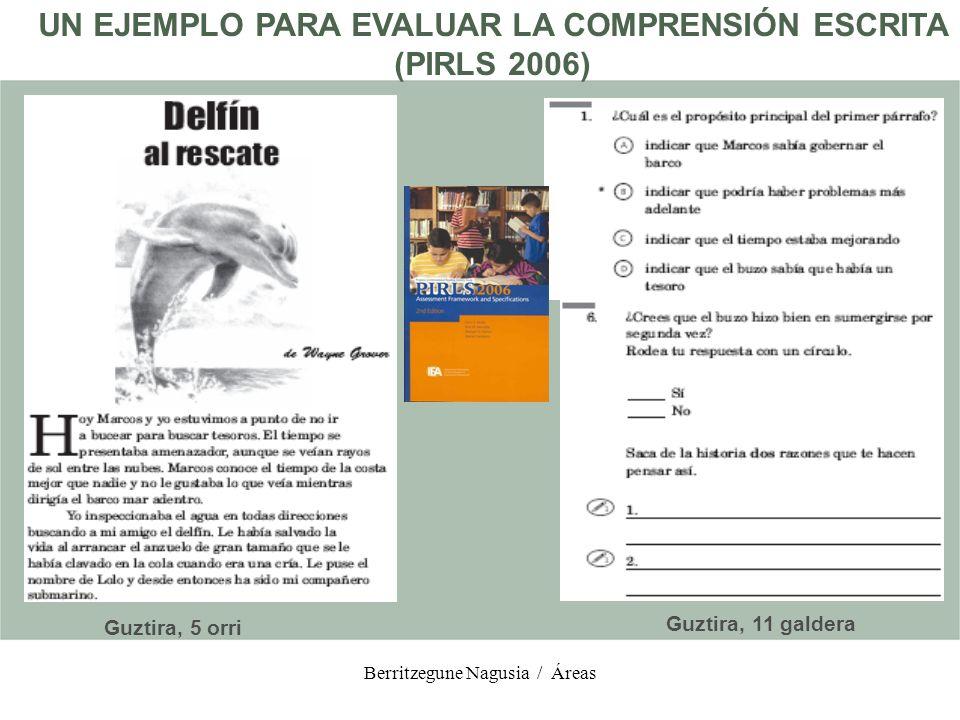 UN EJEMPLO PARA EVALUAR LA COMPRENSIÓN ESCRITA (PIRLS 2006)