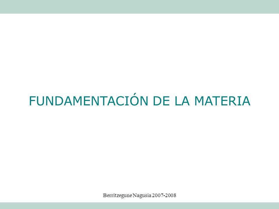 FUNDAMENTACIÓN DE LA MATERIA