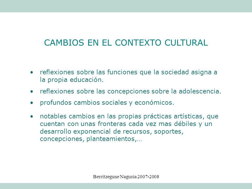CAMBIOS EN EL CONTEXTO CULTURAL