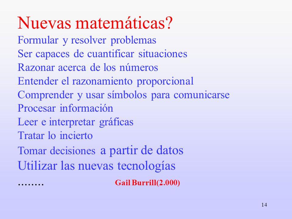 Nuevas matemáticas.