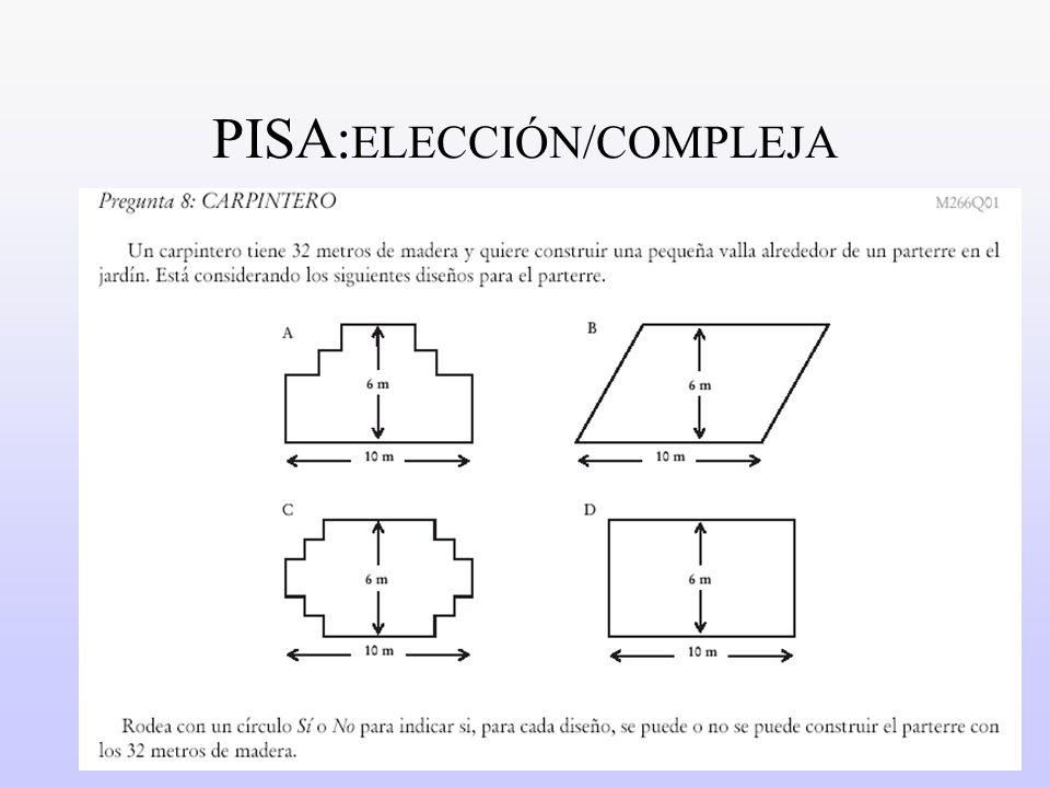 PISA:ELECCIÓN/COMPLEJA