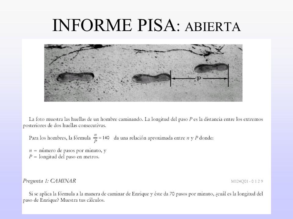 INFORME PISA: ABIERTA