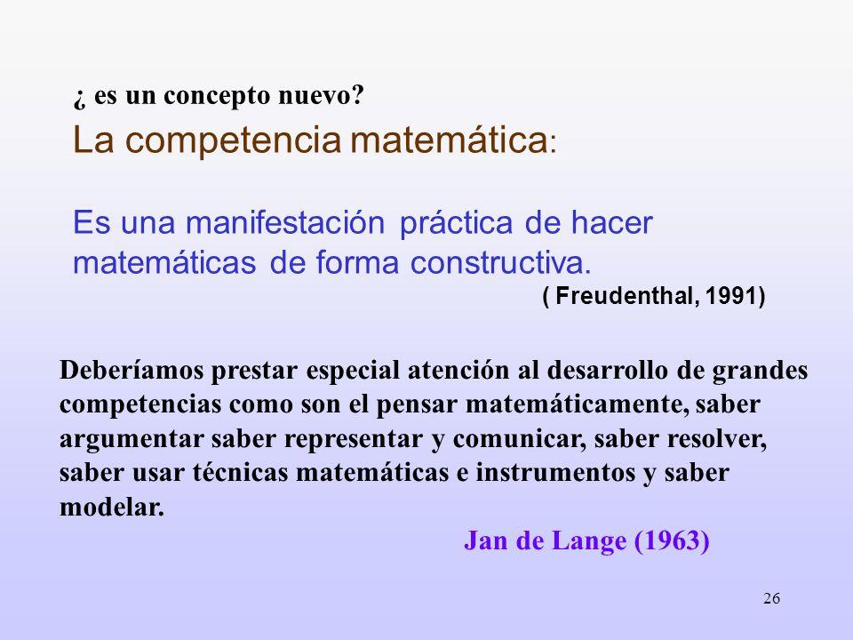 La competencia matemática: