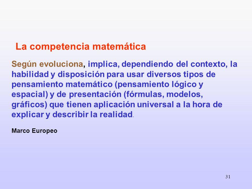La competencia matemática