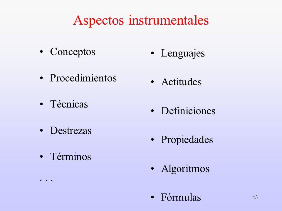 Aspectos instrumentales