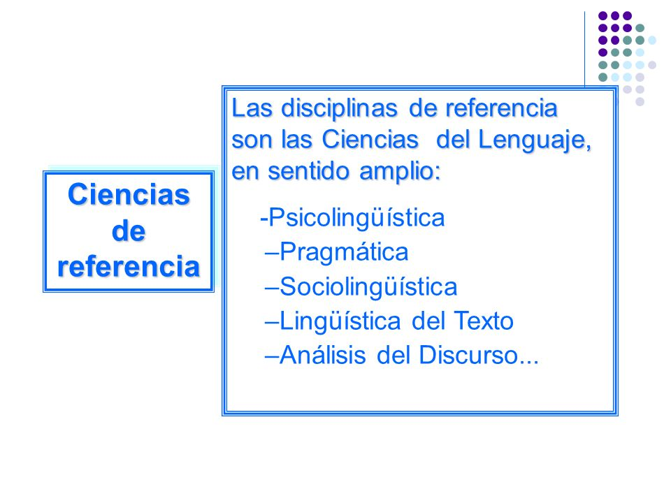 Ciencias de referencia