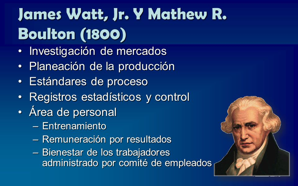 James Watt, Jr. Y Mathew R. Boulton (1800)
