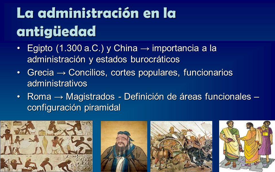 La administración en la antigüedad