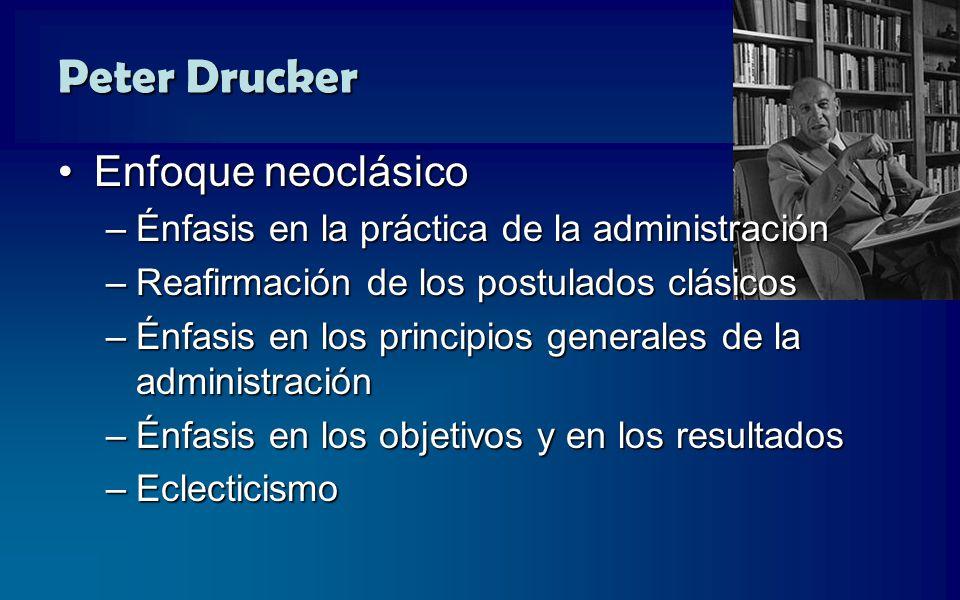 Peter Drucker Enfoque neoclásico