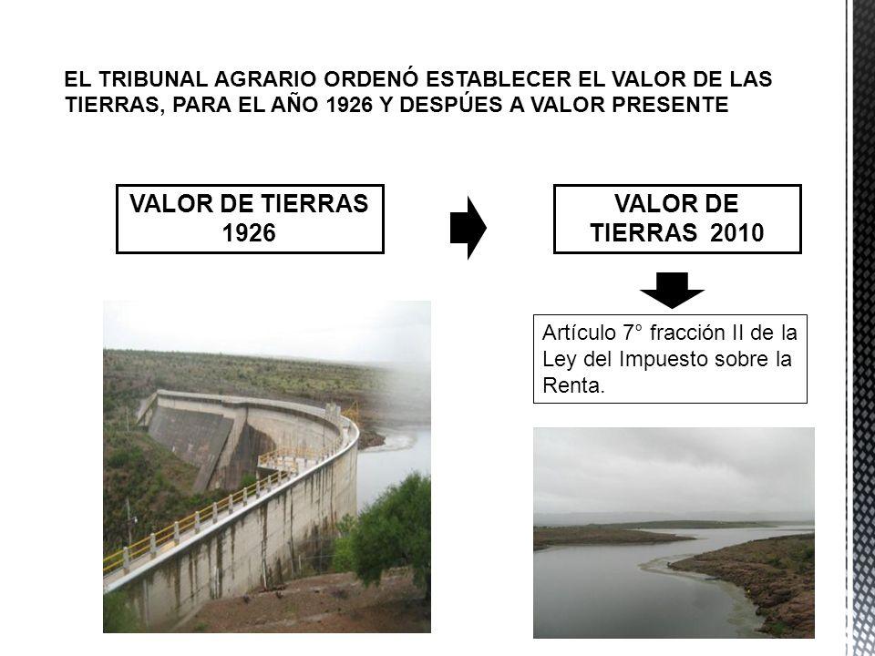 VALOR DE TIERRAS 1926 VALOR DE TIERRAS 2010