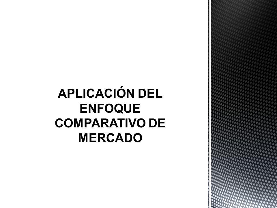 APLICACIÓN DEL ENFOQUE COMPARATIVO DE MERCADO