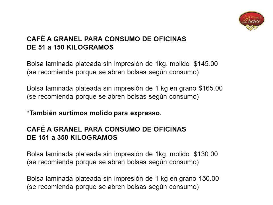 CAFÉ A GRANEL PARA CONSUMO DE OFICINAS