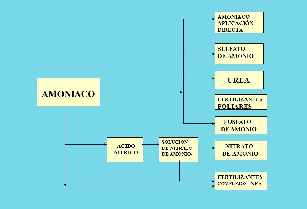 AMONIACO UREA FOLIARES SULFATO DE AMONIO FOSFATO DE AMONIO NITRATO
