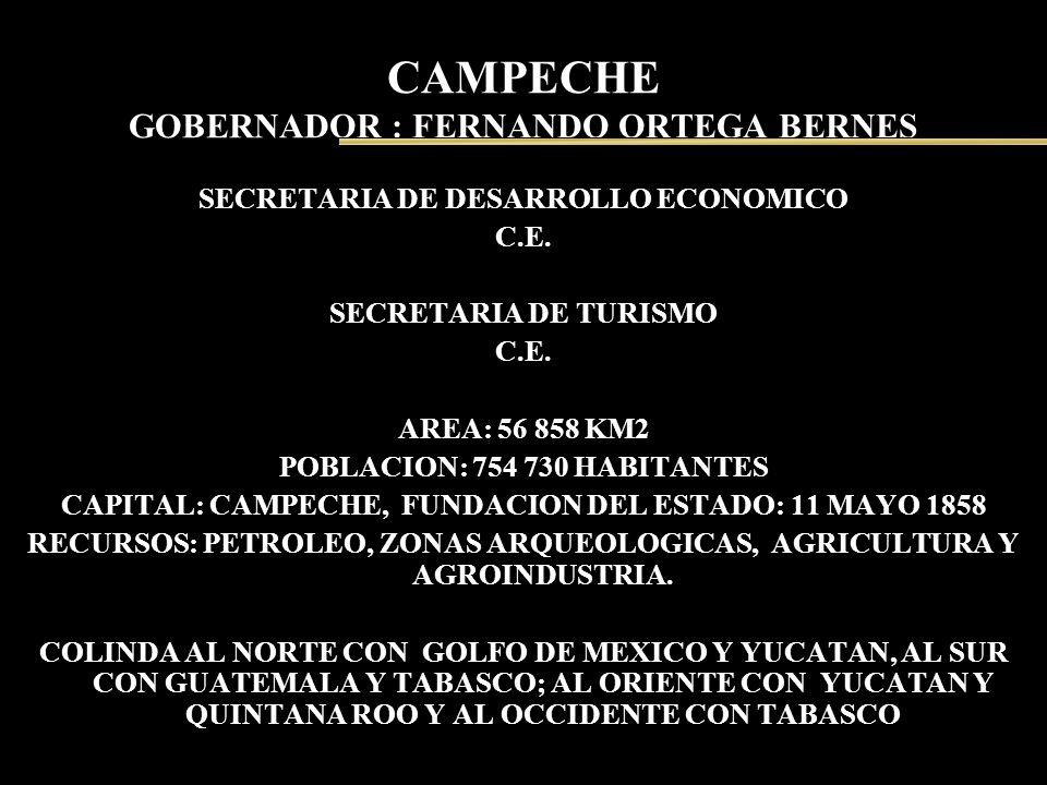 CAMPECHE GOBERNADOR : FERNANDO ORTEGA BERNES