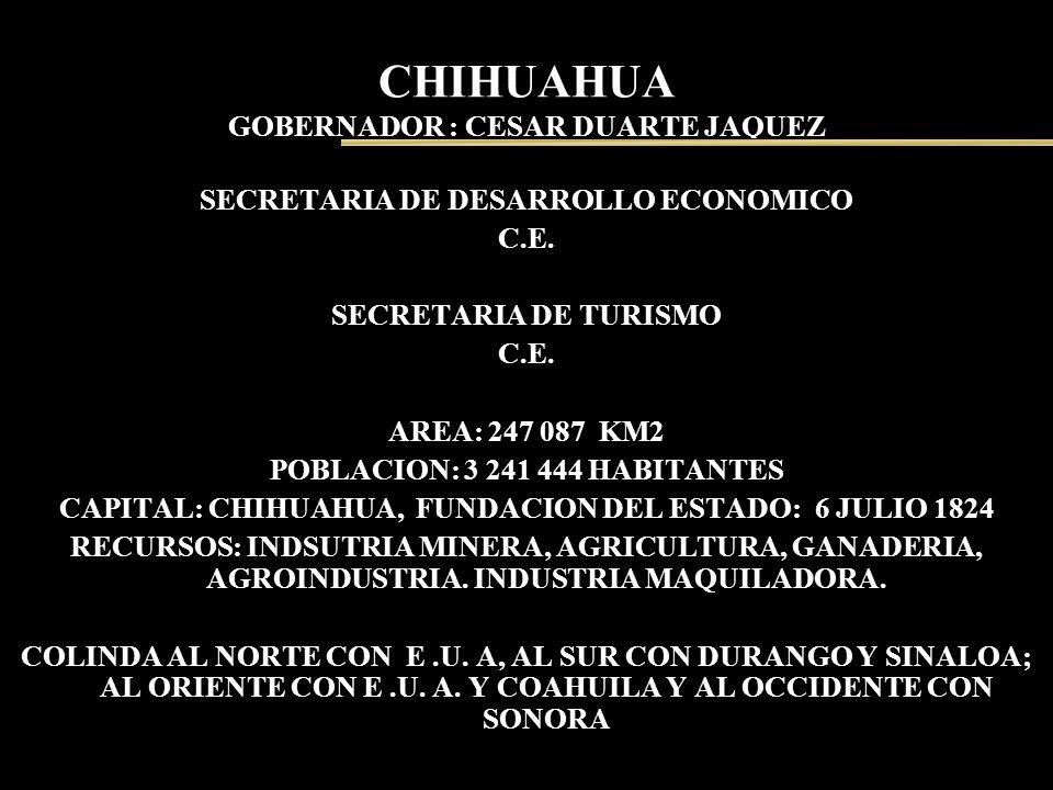 CHIHUAHUA GOBERNADOR : CESAR DUARTE JAQUEZ