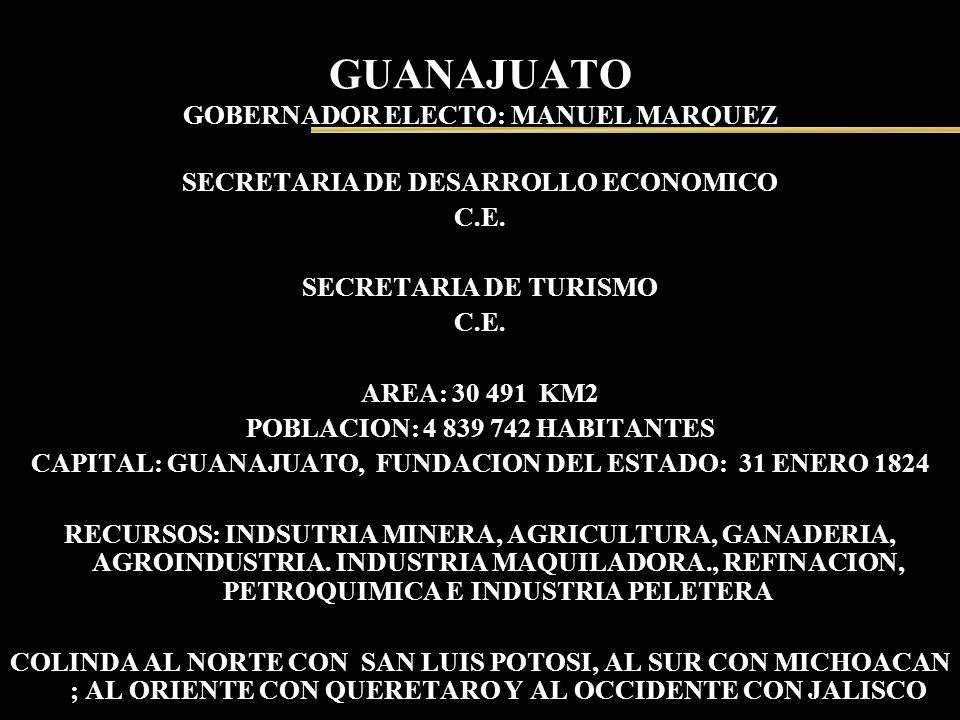 GUANAJUATO GOBERNADOR ELECTO: MANUEL MARQUEZ