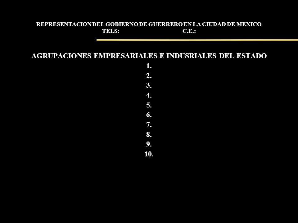 AGRUPACIONES EMPRESARIALES E INDUSRIALES DEL ESTADO