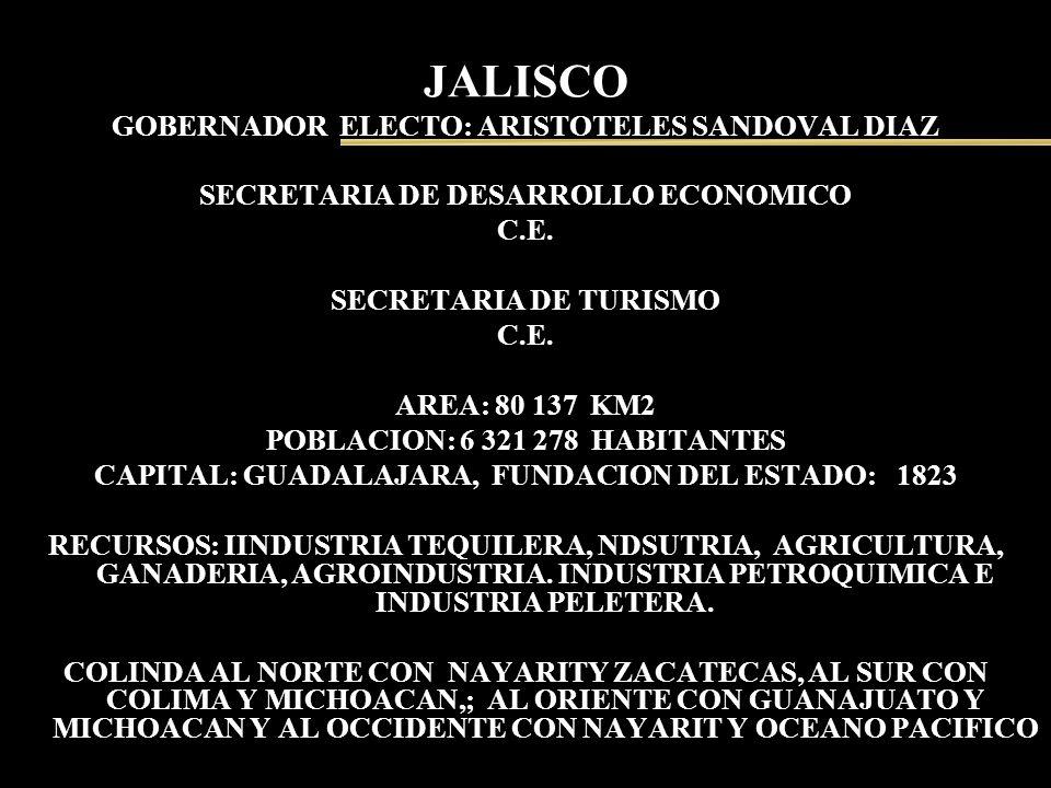 JALISCO GOBERNADOR ELECTO: ARISTOTELES SANDOVAL DIAZ