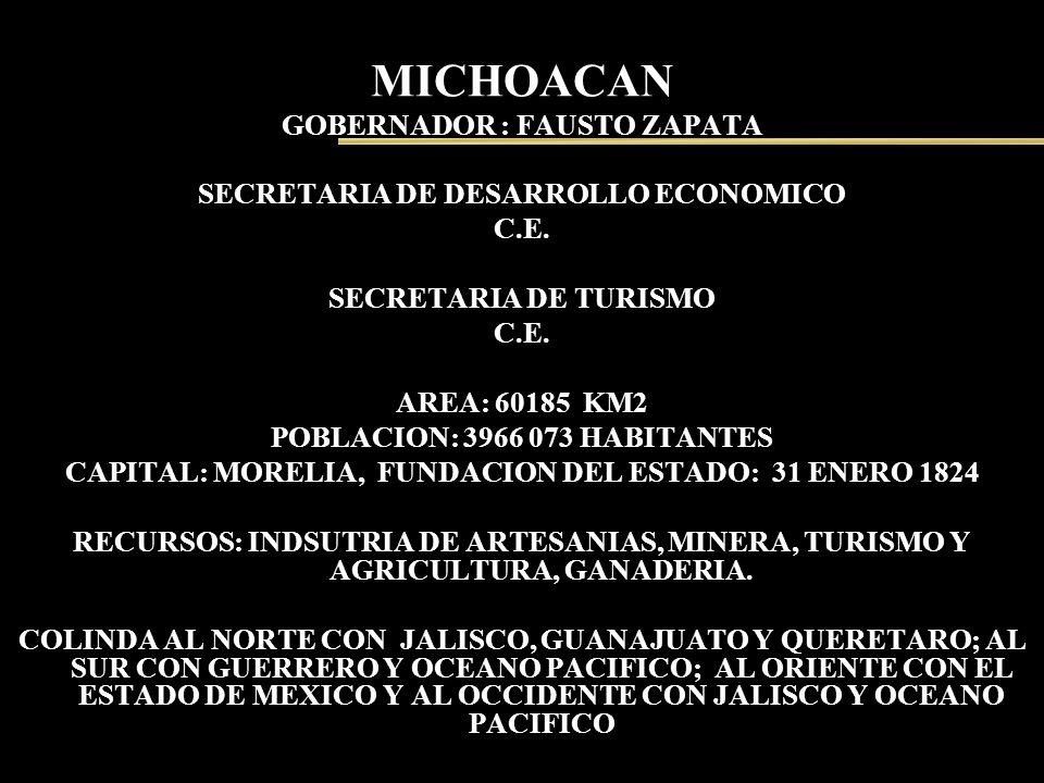 MICHOACAN GOBERNADOR : FAUSTO ZAPATA