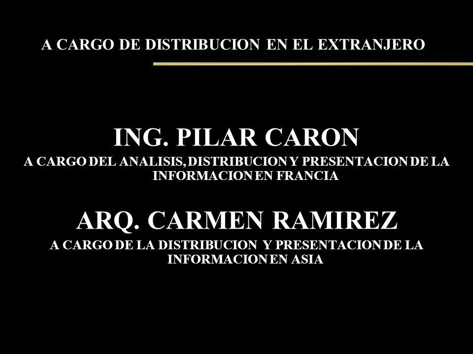 A CARGO DE DISTRIBUCION EN EL EXTRANJERO