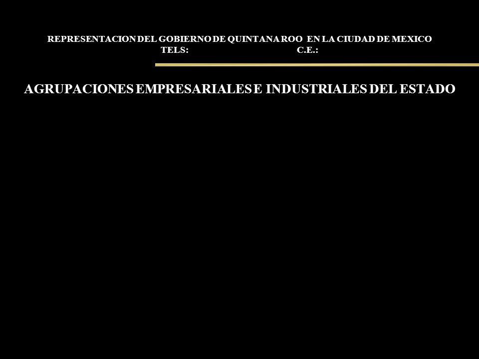 AGRUPACIONES EMPRESARIALES E INDUSTRIALES DEL ESTADO