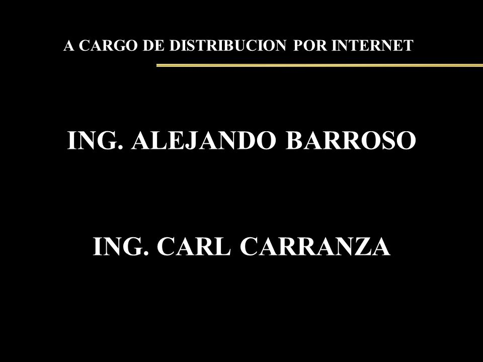 A CARGO DE DISTRIBUCION POR INTERNET