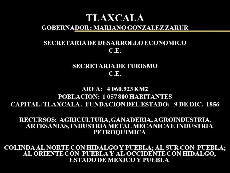 TLAXCALA GOBERNADOR : MARIANO GONZALEZ ZARUR